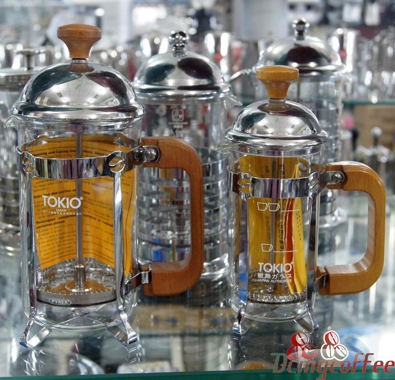 TOKIO咖啡品牌 核桃木法压壶木柄压滤壶 新手咖啡冲煮首选法压壶