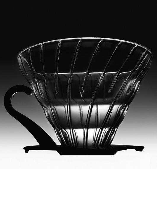日本HARIO V60 玻璃滤杯 旋转螺纹式手冲咖啡专用咖啡滤杯02型