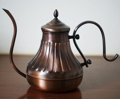 手冲咖啡 手冲壶 手冲壶种类:宫廷细嘴壶、鹤嘴冲泡壶